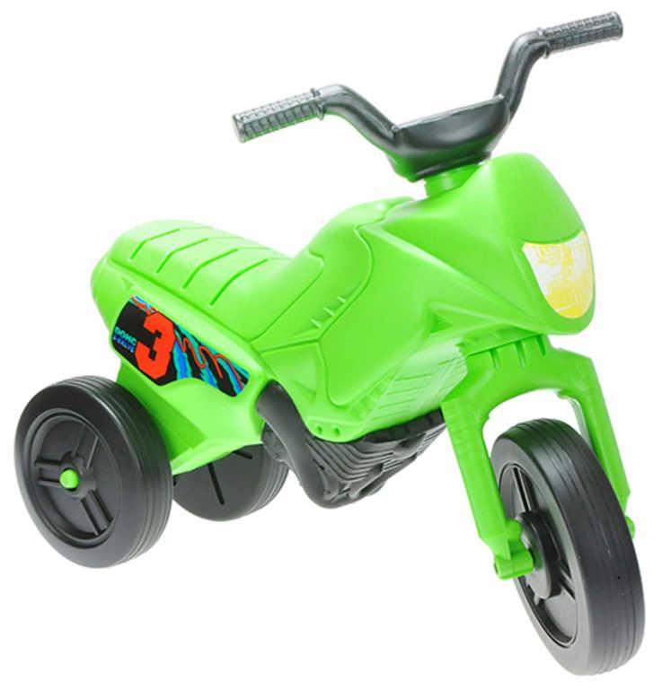 MAD Baby odrážedlo ENDURO zelené odstrkovadlo 55x28x40cm motorka plast
