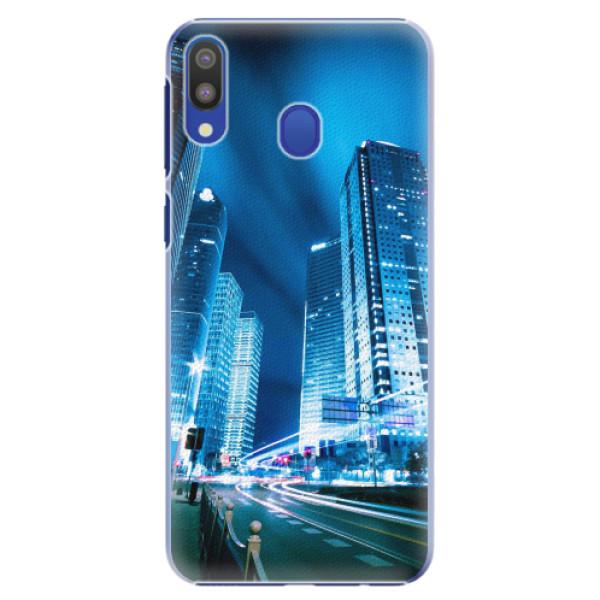 Plastové pouzdro iSaprio - Night City Blue - Samsung Galaxy M20