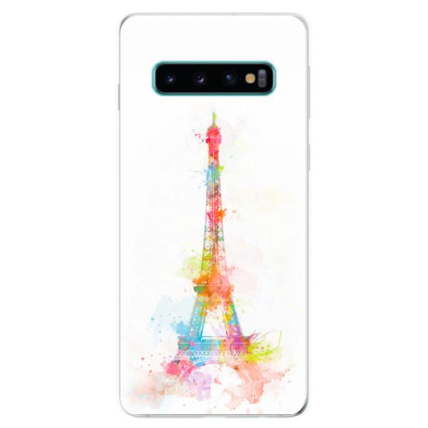 Odolné silikonové pouzdro iSaprio - Eiffel Tower - Samsung Galaxy S10