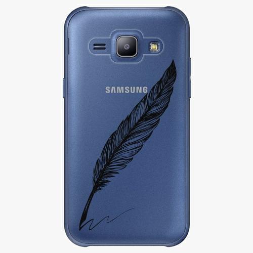Plastový kryt iSaprio - Writing By Feather - black - Samsung Galaxy J1