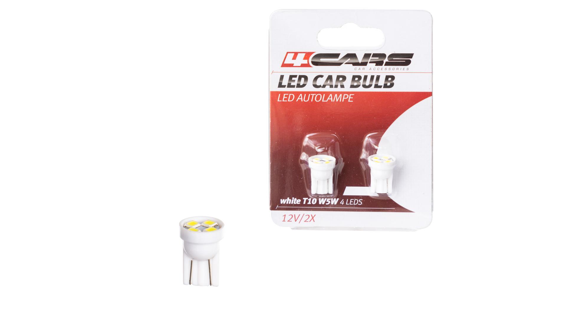 4CARS LED žárovka 4LED 12V T10
