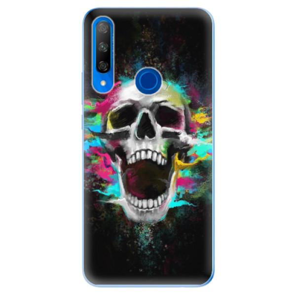 Odolné silikonové pouzdro iSaprio - Skull in Colors - Huawei Honor 9X