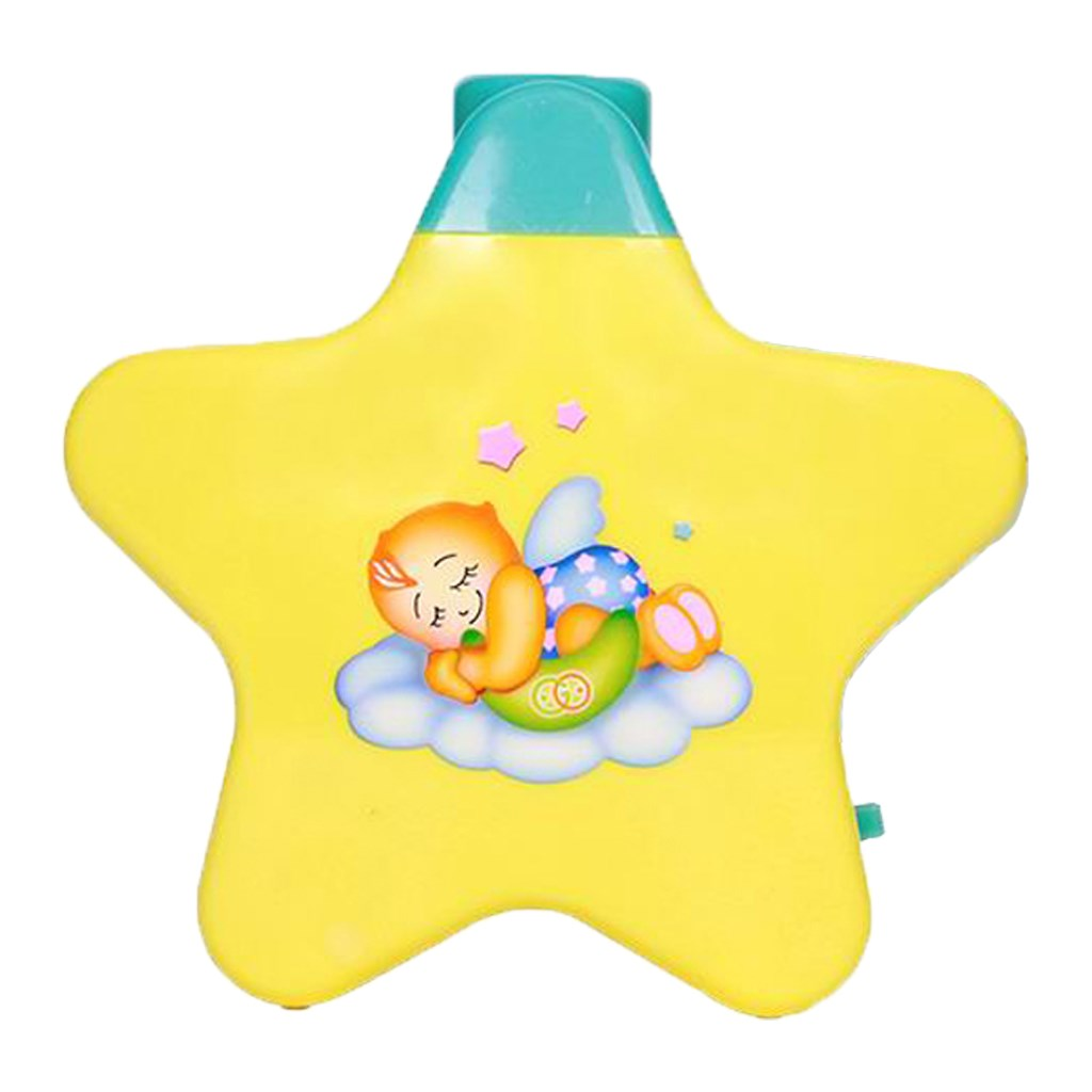 Hudební projektor BAYO hvězdička - žlutá