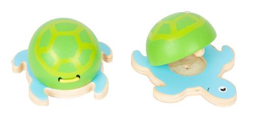 Legler Dřevěné Kastaněty mořští živočichové - Želva, 1 ks