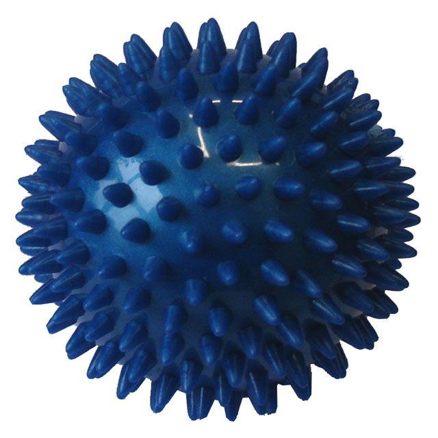 Míček masírovací 9 cm modrý