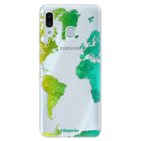 Silikonové pouzdro iSaprio - Cold Map - Samsung Galaxy A30