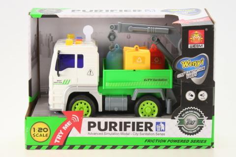 Auto odvoz odpadu baterie