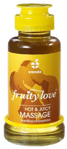 Masážní olej vanilka a skořice Fruity Love 100 ml