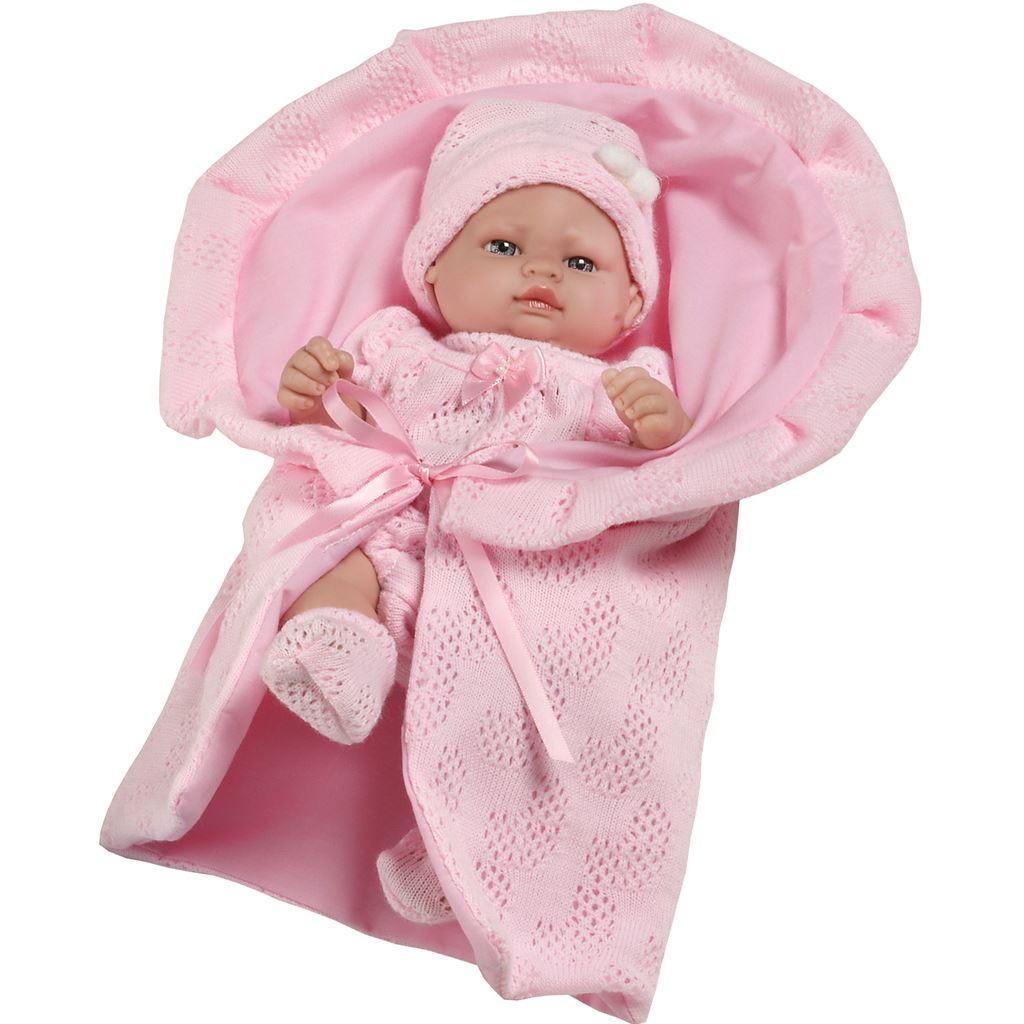 Luxusní dětská panenka-miminko Berbesa Valentina 28cm - růžová