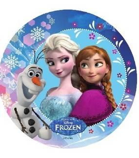 Jedlý papír Elsa, Anna a Olaf - 21cm