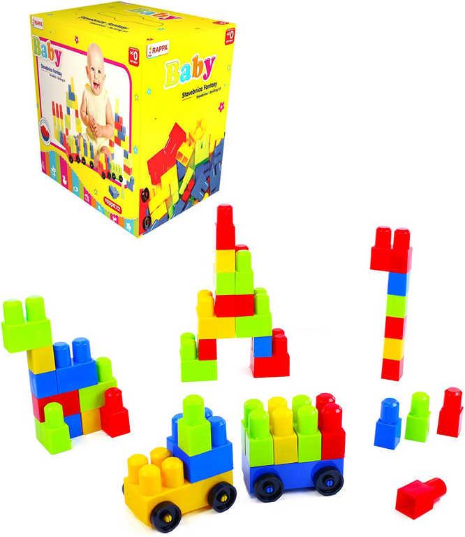 Baby stavebnice barevná Fantasy 1 set 52 dílků v krabici pro miminko