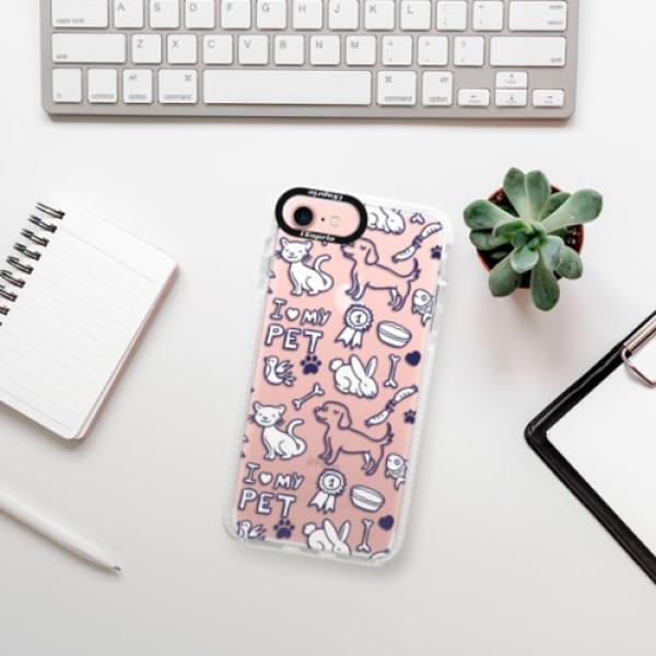 Silikonové pouzdro Bumper iSaprio - Love my pets - iPhone 7