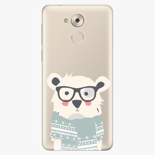 Plastový kryt iSaprio - Bear with Scarf - Huawei Nova Smart