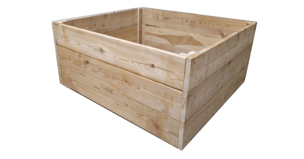 Dřevěný vyvýšený záhon thermowood, 126 x 80 x 39 cm