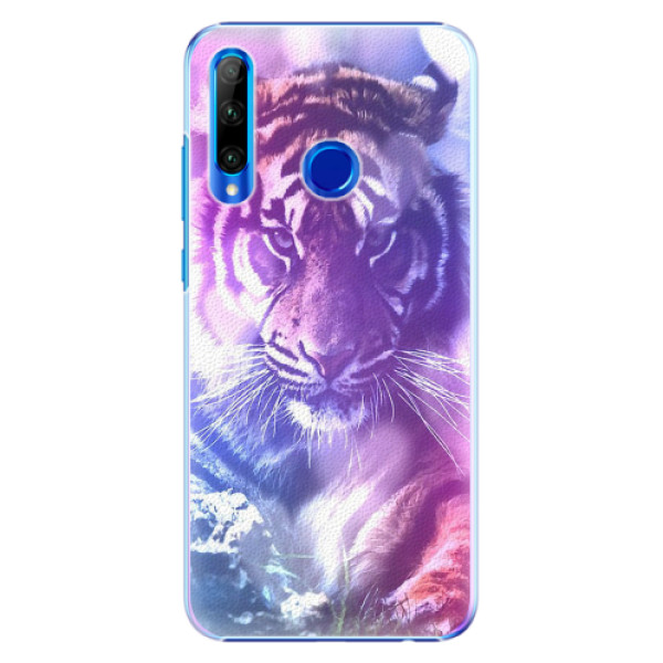 Plastové pouzdro iSaprio - Purple Tiger - Huawei Honor 20 Lite