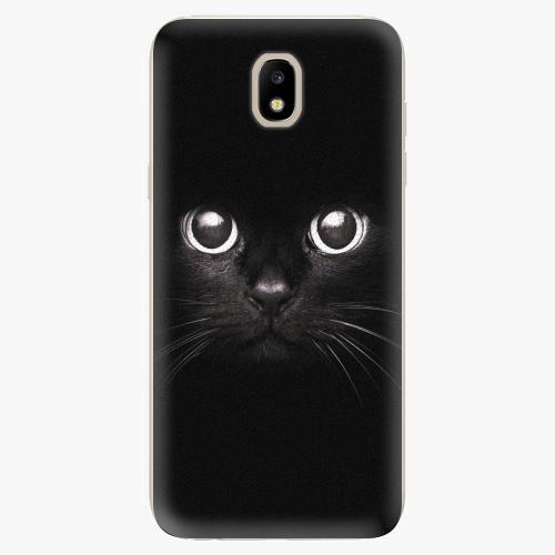 Silikonové pouzdro iSaprio - Black Cat - Samsung Galaxy J5 2017