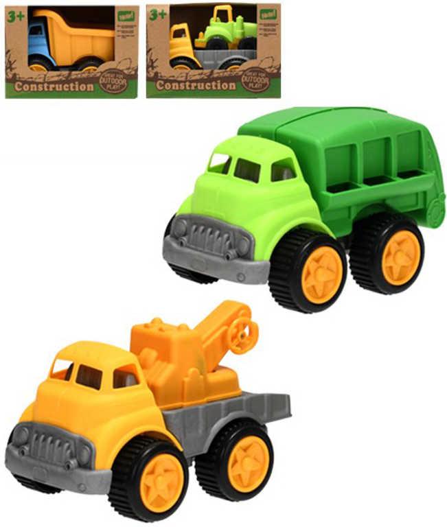 Auto stavební 16-17cm různé druhy plast v krabici