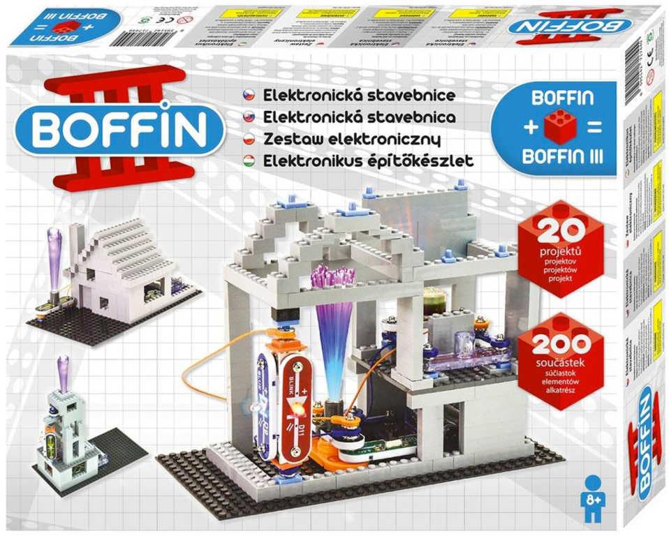 Boffin III. BRICKS 20 projektů 200 součástek na baterie elektronická STAVEBNICE