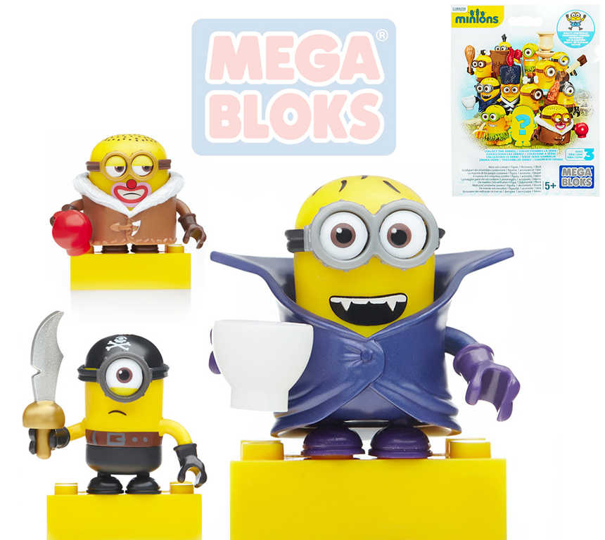 MEGA BLOKS Mimoňové (Minions) 3.serie set 1 akční figurka s doplňky v sáčku