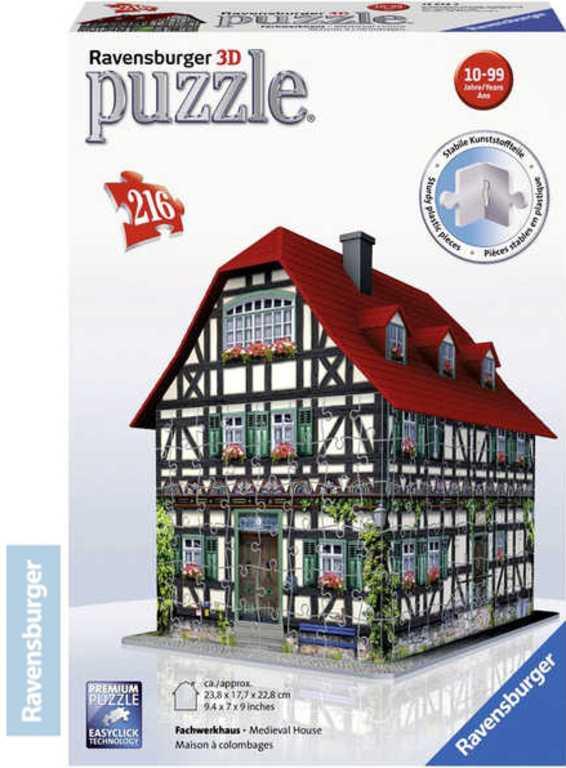 RAVENSBURGER Puzzle 3D Středověký dům 216 dílků