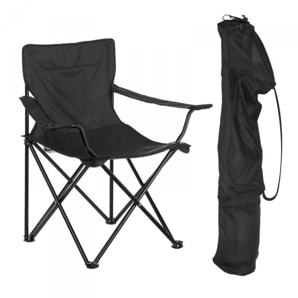 Rozkládací kempingová židle - černá