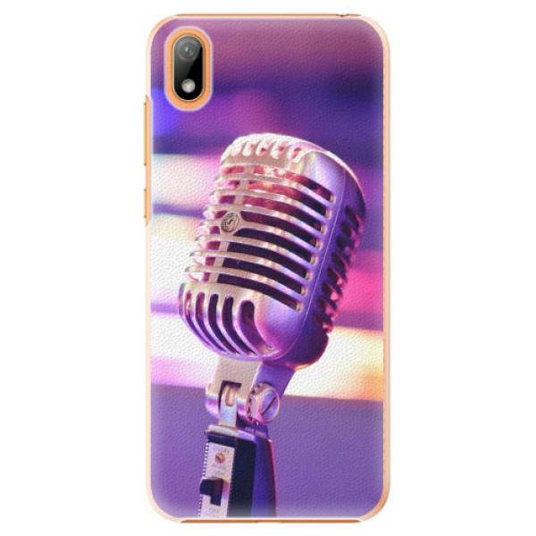 Plastové pouzdro iSaprio - Vintage Microphone - Huawei Y5 2019