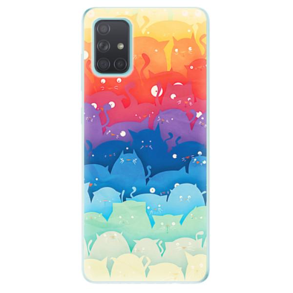 Odolné silikonové pouzdro iSaprio - Cats World - Samsung Galaxy A71