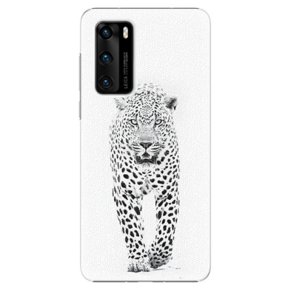 Plastové pouzdro iSaprio - White Jaguar - Huawei P40
