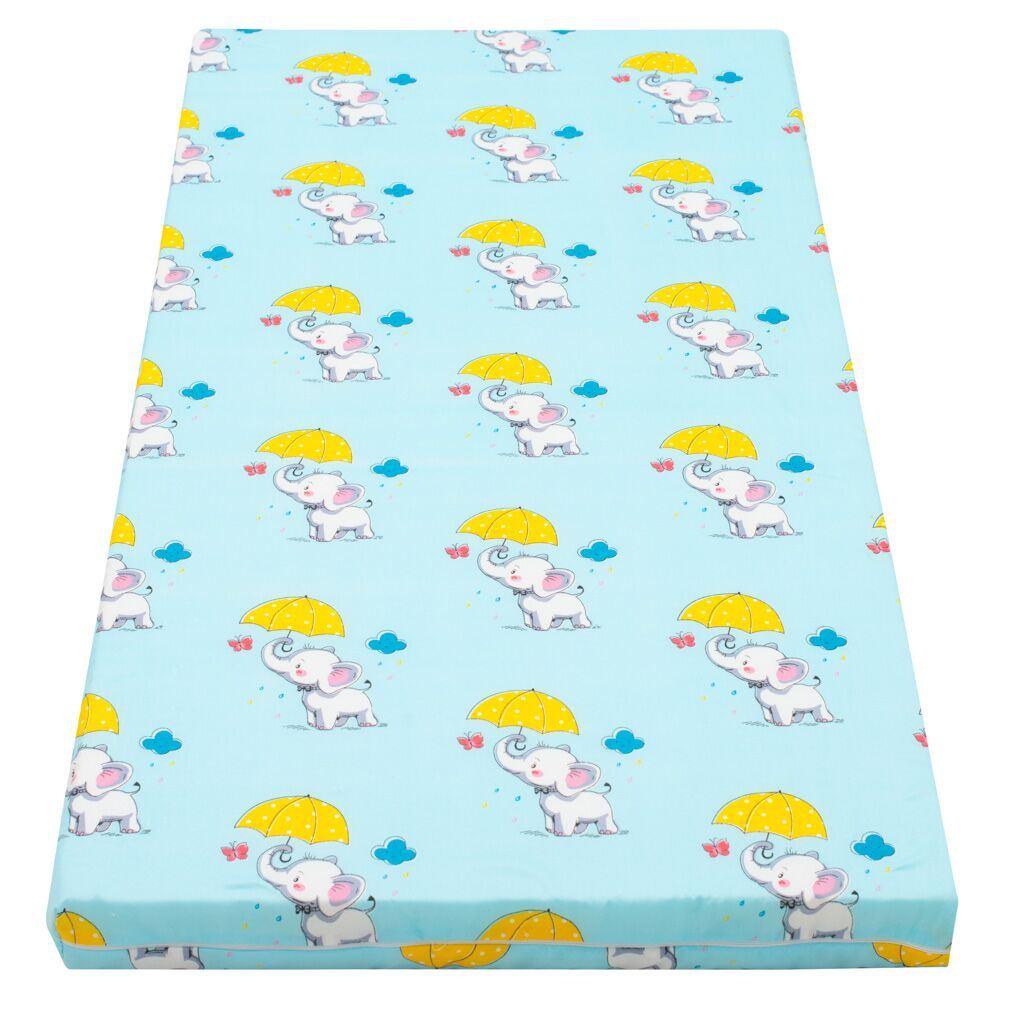 Dětská matrace New Baby 120x60 molitan-kokos obrázky - modrá