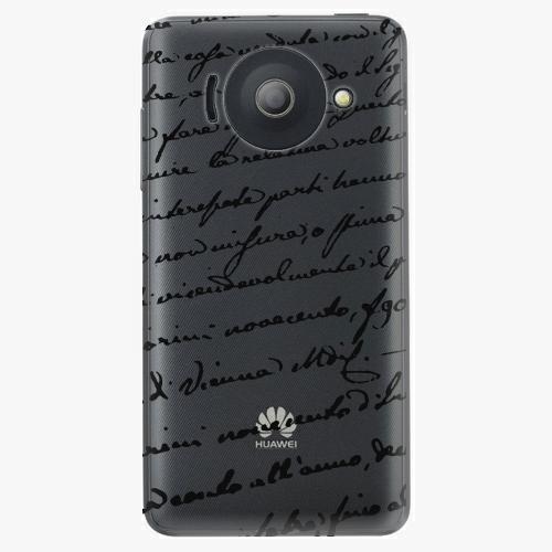 Plastový kryt iSaprio - Handwiting 01 - black - Huawei Ascend Y300
