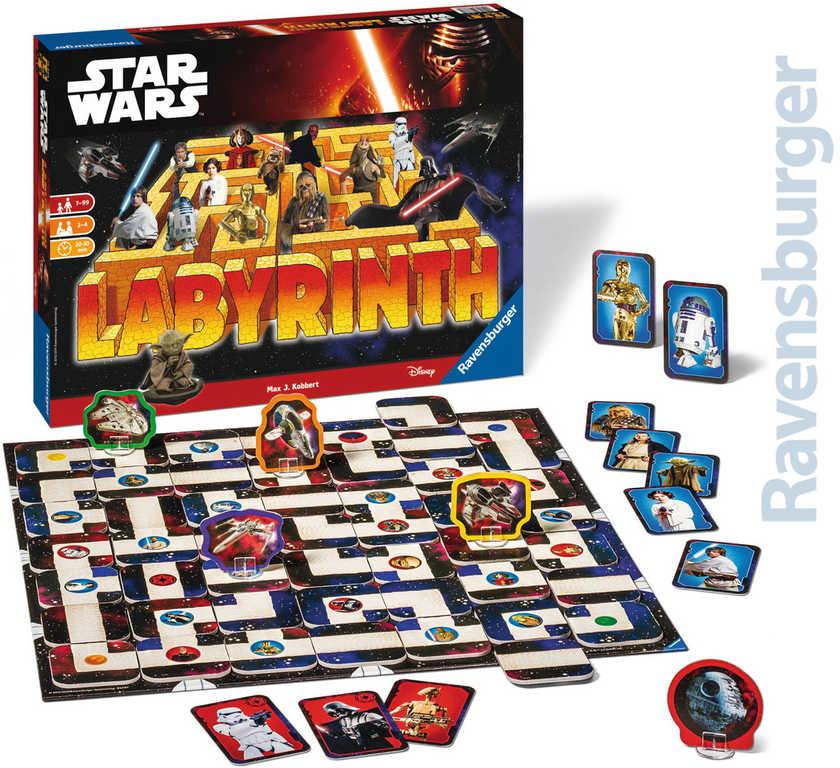 RAVENSBURGER Hra Labyrinth bludiště Star Wars SPOLEČENSKÉ HRY