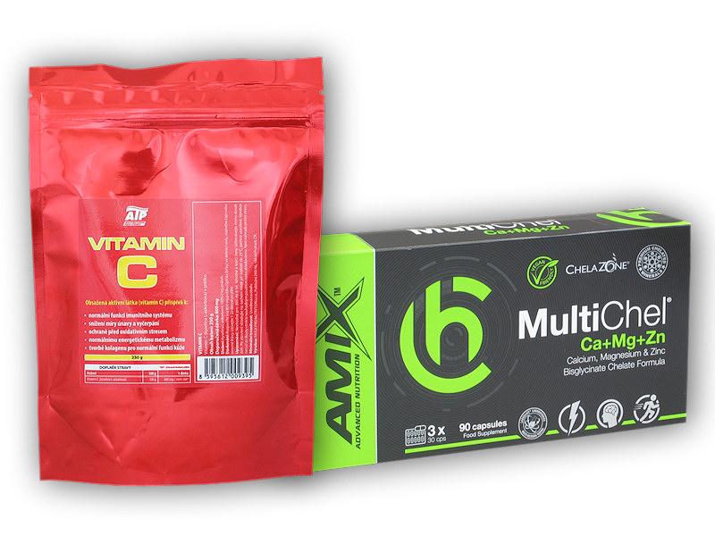 MultiChel Cal+Mag+Zn 90c + Vit C 250g