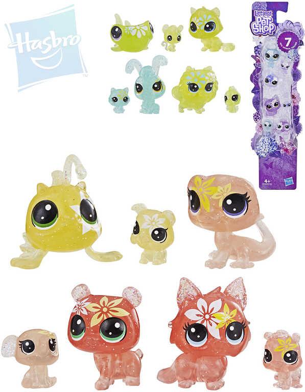 HASBRO LPS Littlest Pet Shop zvířátko květinové set 7 ks na kartě - 4 druhy
