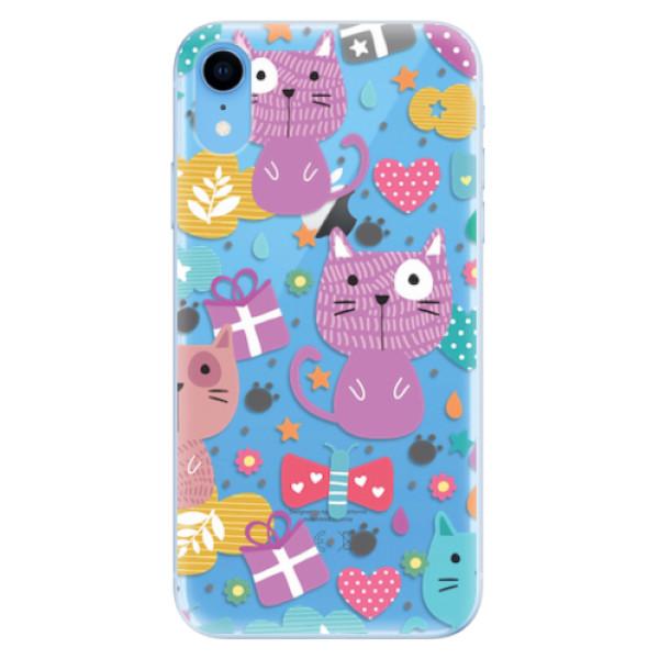 Odolné silikonové pouzdro iSaprio - Cat pattern 01 - iPhone XR