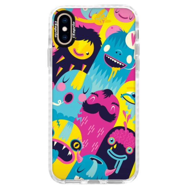 Silikonové pouzdro Bumper iSaprio - Monsters - iPhone XS