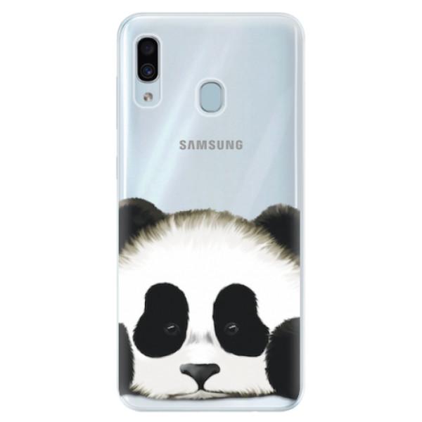 Silikonové pouzdro iSaprio - Sad Panda - Samsung Galaxy A30