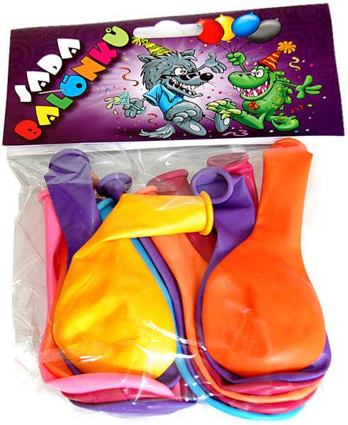 Barevné balónky nafukovací bez potisku sada 13ks v sáčku