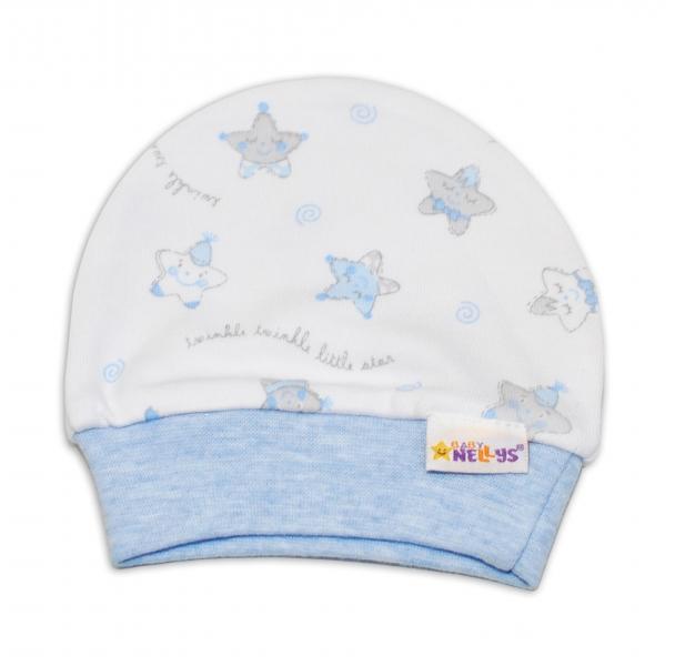 Čepička pro předčasně narozená miminka Baby Nellys ® - Hvězdičky modré