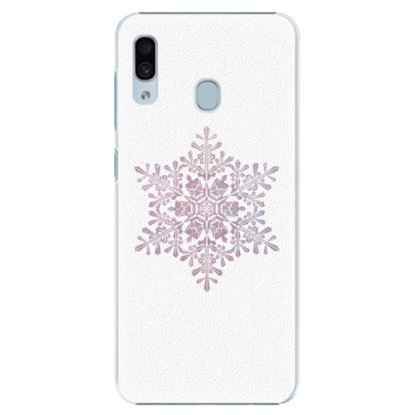 Plastové pouzdro iSaprio - Snow Flake - Samsung Galaxy A30