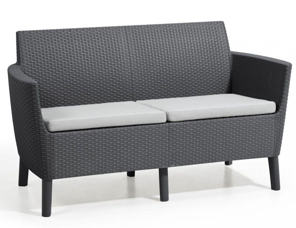 SALEMO dvoumístná sofa - grafit