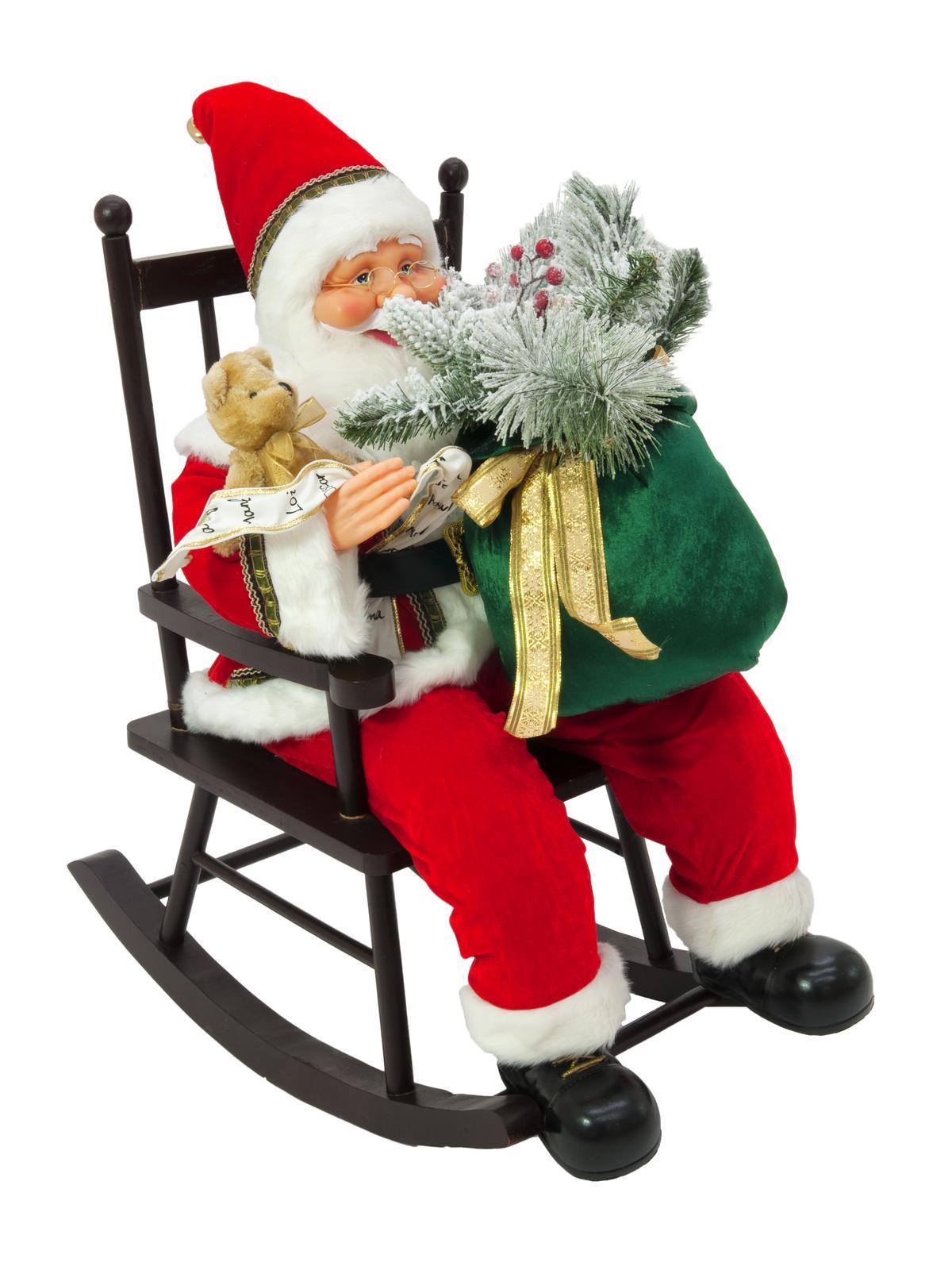Santa na houpací židli, 80cm