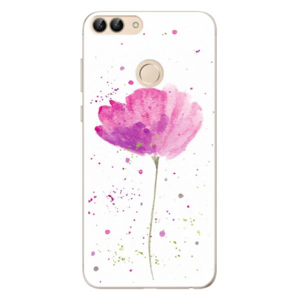 Odolné silikonové pouzdro iSaprio - Poppies - Huawei P Smart