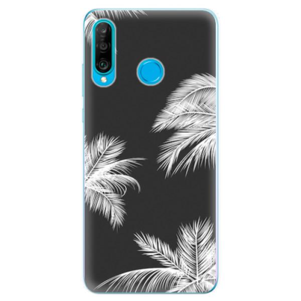 Odolné silikonové pouzdro iSaprio - White Palm - Huawei P30 Lite
