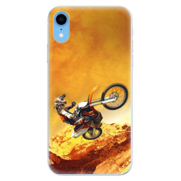 Odolné silikonové pouzdro iSaprio - Motocross - iPhone XR