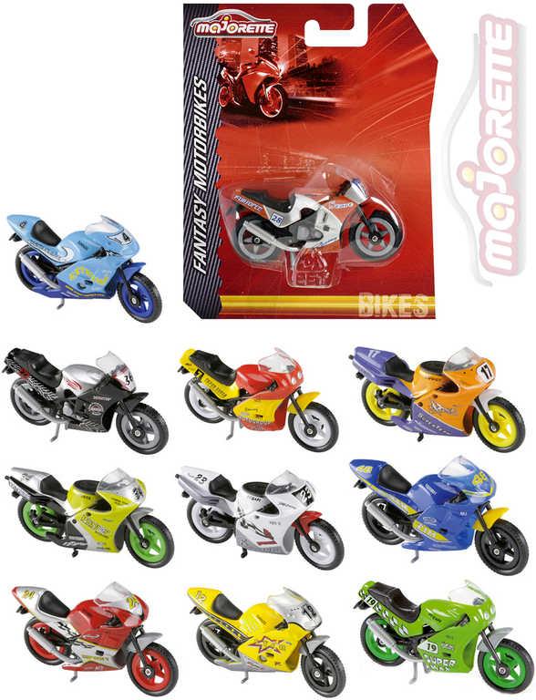 MAJORETTE Motocykl Fantasy 6,5cm motorka na volný chod 11 druhů kov na kartě