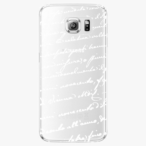Plastový kryt iSaprio - Handwiting 01 - white - Samsung Galaxy S6 Edge Plus