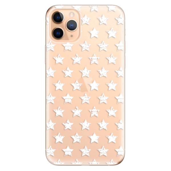 Odolné silikonové pouzdro iSaprio - Stars Pattern - white - iPhone 11 Pro Max
