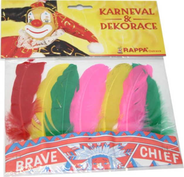 KARNEVAL Čelenka indiánská malá barevné peří KARNEVALOVÝ DOPLNĚK