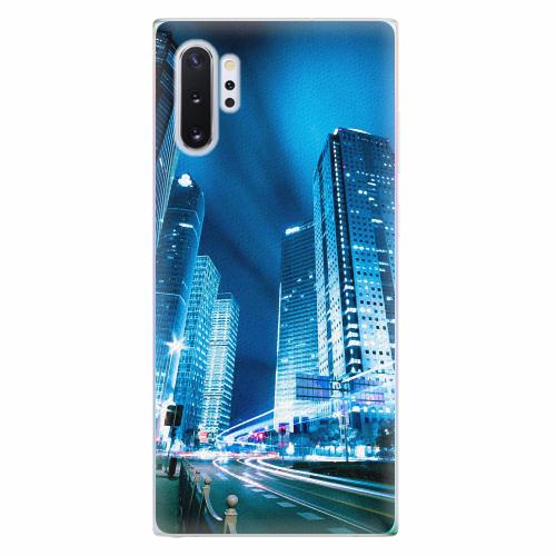 Silikonové pouzdro iSaprio - Night City Blue - Samsung Galaxy Note 10+