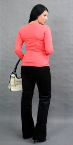 Těhotenské triko ELLIS - korálová
